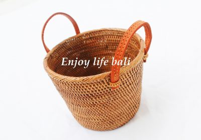 Flower Pot Natural Rattan Ata Bali