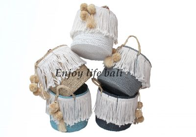 Nancy Basket Natural Rattan Bali Mix