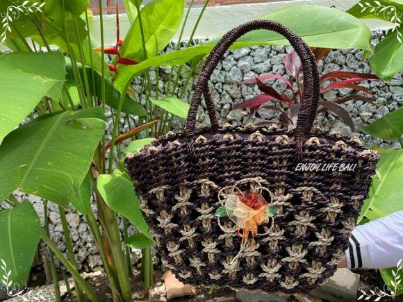 Nisha Brown Handbag Natural Bali