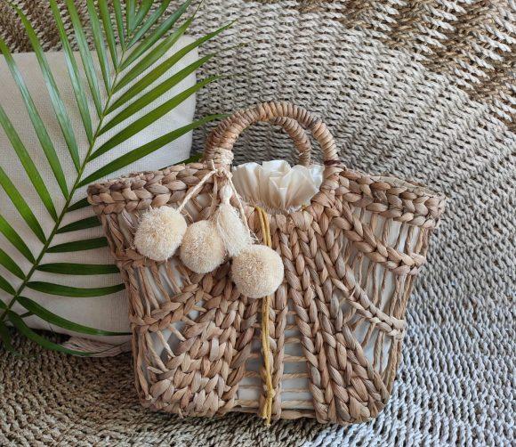 Hyacinth Fuchia Linen Natural Bali M