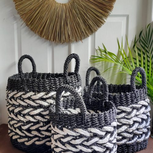 Rengganis Brick Basket Black White