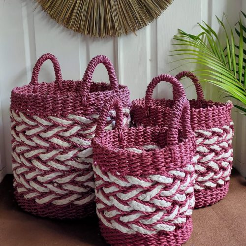 Rengganis Brick Basket Red White