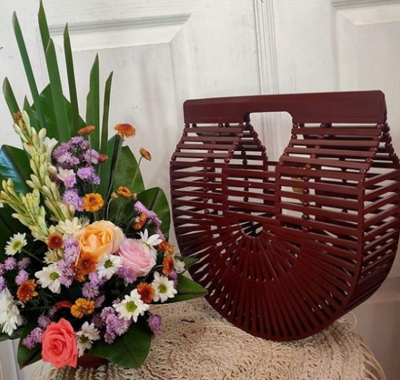 Lia Red Bamboo Handbag Bali