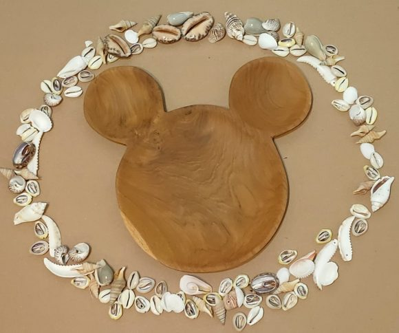 Wooden Micky Plate