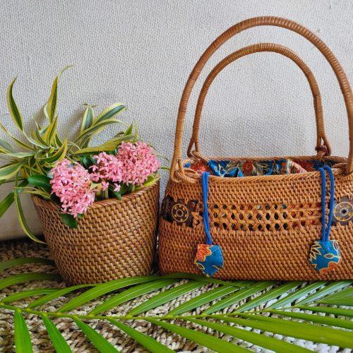 Kirana Rattan Handbag MKirana Rattan Handbag M