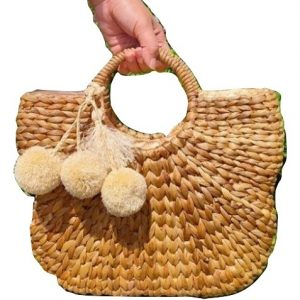 Hyacinth Butterfly Natural Handbag
