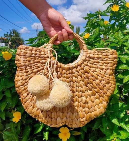 Hyacinth Flower Natural Handbag