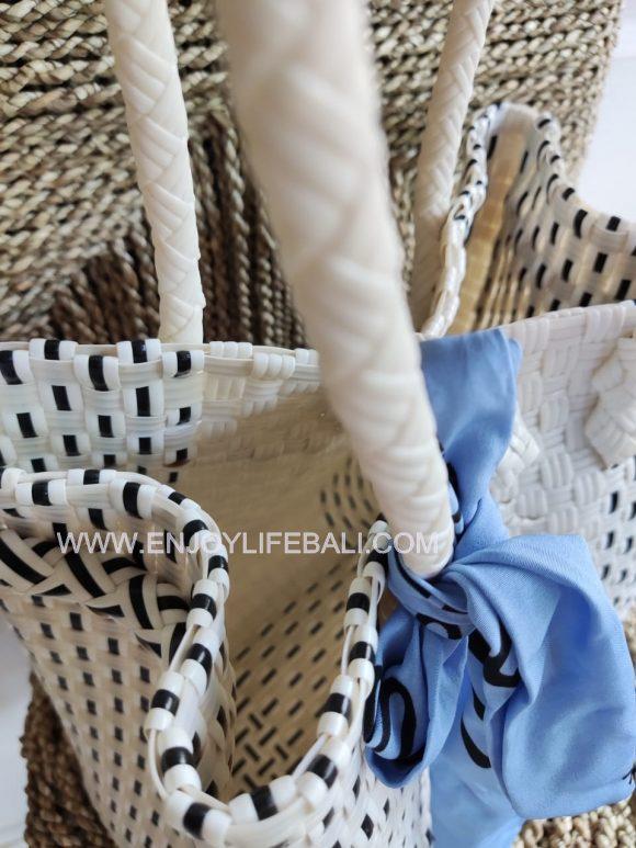 Victoria White dot Black Bag (L)Victoria White dot Black Bag (L) Victoria White dot Black Bag (L)